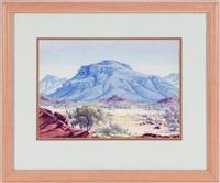 untitled - landscape in the flinders ranges by albert namatjira