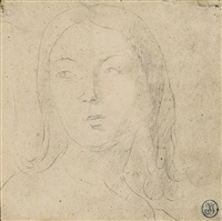 tête de femme en buste by jean-auguste-dominique ingres