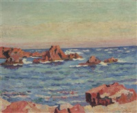 les roches rouges à agay by armand guillaumin