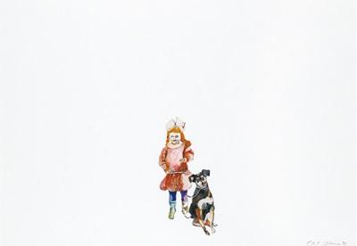 mädchen mit hund by cornelia schleime