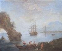 pêcheurs le matin par temps calme en méditerranée by jean henry d' arles
