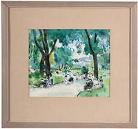 park scene by martha walter