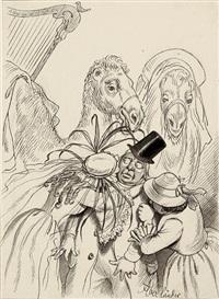 eine weibliche reise nach suez (aus den jugenderinnerungen laura's). illustrationsvorlagen (11 works) by adolf oberlander
