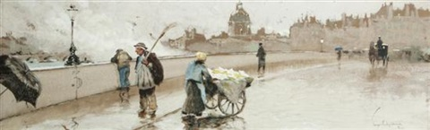 on the pont royal paris early morning by george wharton edwards