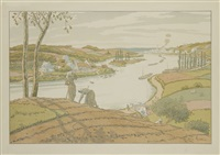 le fleuve (from aspects de la nature) by henri rivière