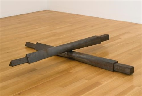 untitled cross beams by bruce nauman
