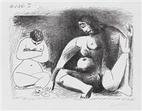 deux femmes accroupies by pablo picasso