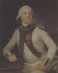 bildnis des jean-baptiste gabriel, capitaine du regiment de brie by françois brossard de beaulieu