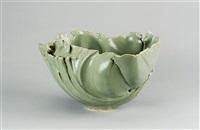 a large celadon bowl form by jean-francois fouilhoux