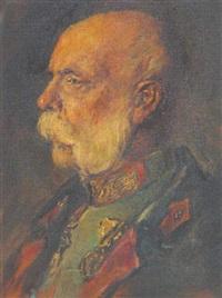 portrait von kaiser franz josef by alfred gerstenbrand