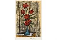 5 roses by bernard buffet