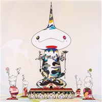 reversed double helix mega power by takashi murakami