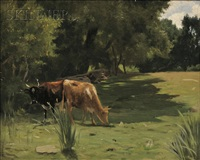 landscape with cows by thomas allen