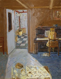 interior at botallack moor by rose hilton