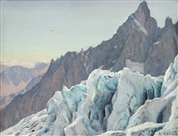 la guglia e il ghiacciaio by angelo abrate