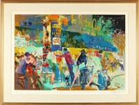 left bank cafe by leroy neiman
