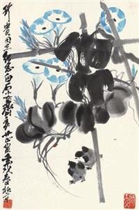 牵牛花 by qi liangzhi