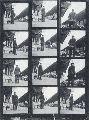 variant images of a policeman on duty by leon levinstein