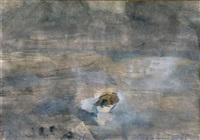 boot auf stürmischem meer by emil wachter