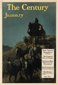 the century january/new year's number by frederic remington