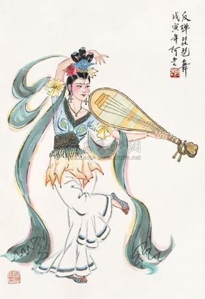 反弹琵琶舞 by a lao