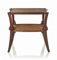 two-tier occasional table by louis majorelle