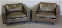 club chairs (pair) by jens risom
