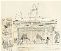 athen's cinema by paul hogarth