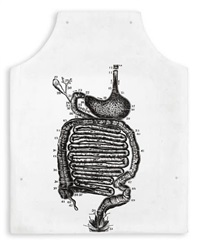 stomach anatomy (fluxus apron) by george maciunas
