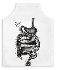 stomach anatomy (fluxus apron) by george maciunas