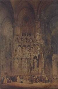 el transparente, toledo cathedral by genaro perez villaamil