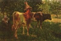 la gardienne de vaches by eugène labitte