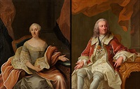 porträtt av riksrådet greve gabriel von seth (+ porträtt av hans maka anna margareta, f. lilliecreutz; pair) by olof arenius