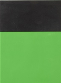 black/green by ellsworth kelly