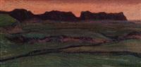 landschaft im abendrot by erwin hegemann