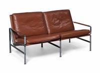 model 6722 sofa by preben fabricius and jørgen kastholm