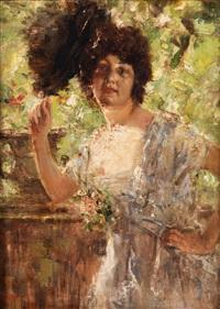 bildnis einer jungen dame by antonio mancini