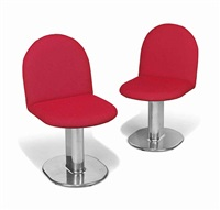 a pair of harlow chairs by ettore sottsass