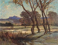 a wooded landscape by william mitcheson timlin