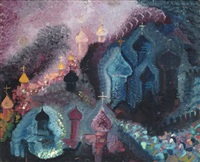 kathedralen (russland) (+ die malerin elisabeth (lis) bertram (1897–1986), verso) by heinrich ehmsen