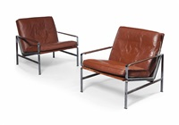 model 6720 lounge chairs (pair) by preben fabricius and jørgen kastholm