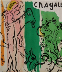 paysage aux isbas by marc chagall