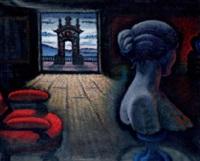 interno con figura by enrico alimandi
