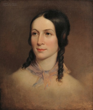 portrait of amelia colter née postlethwaite mandeville 1818 1876 by thomas sully