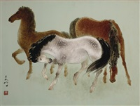 family of horses by lee man fong