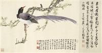 梅花山鹧图 (plum blossom and partridge) by xie zhiliu