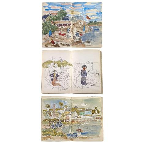 a sketchbook bk w130 works by maurice brazil prendergast