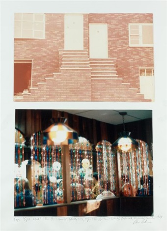 split-lend, two home house, jersey city and wendy's restaurant, vancouver, canada (set of 2) by dan graham