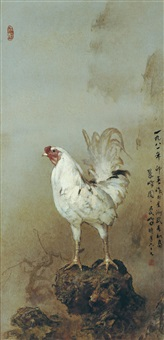 cockerel by lee man fong