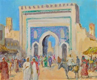 la porte bleue à fez by paul daxhelet